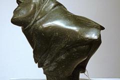 Bending-Inuk-soapstone-Qaqasiralaq-Kullualik-1913-1983