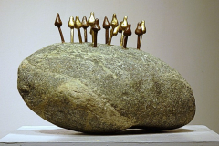 Magic-Mushrooms-1-River-stone-Bronze